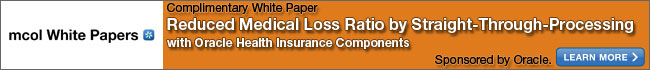 Reduce Medical Loss Ratio by Straight-Through-Processing with Oracle Health Insurance Components