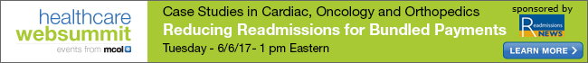 Case Studies in Cardiac, Oncology and Orthopedics. Reducing Readmissions for Bundled Payments