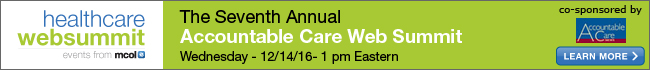 Seventh Accountable Care Web Summit 2016
