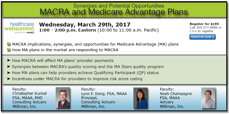 MACRA and Medicare Advantage Plans: Synergies and Potential Opportunities