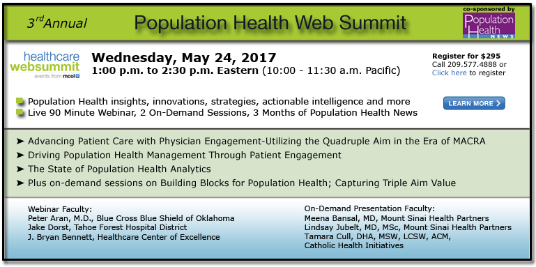 Third Annual Population Health Web Summit - 2017
