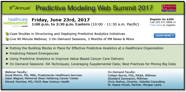 Ninth Annual Predictive Modeling Web Summit 2017