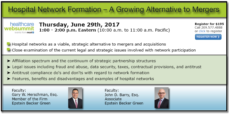 Hospital Network Formation – A Growing Alternative to Mergers