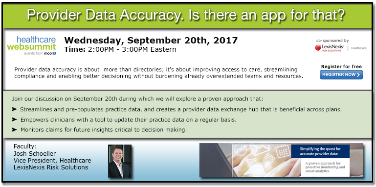 Provider data accuracy- Is there an app for that?