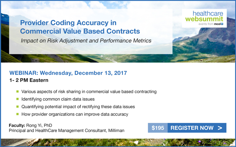Provider Coding Accuracy in Commercial Value Based Contracts: Impact on Risk Adjustment and Performance Metrics
