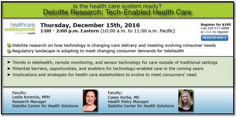 Deloitte Research: Tech-enabled health care: Is the health care system ready?