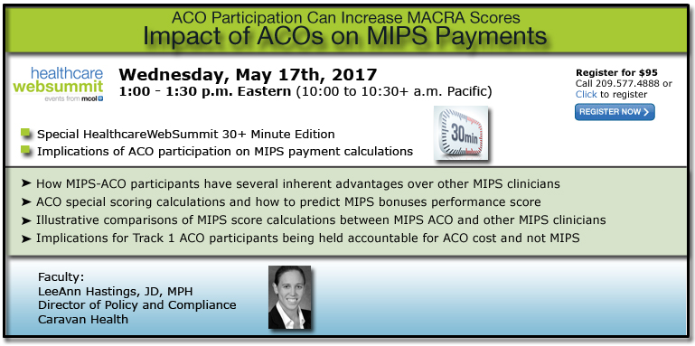 Impact of ACOs on MIPS Payments - ACO Participation Can Increase MACRA Scores