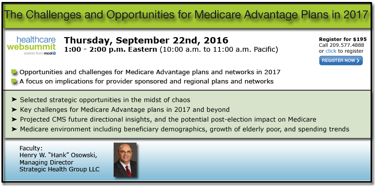 The Challenges and Opportunities for Medicare Advantage Plans in 2017